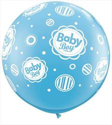 "Qualatex Balloons Baby Boy Dots 90cm - 36"" (dup)"