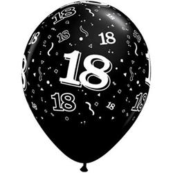 Qualatex Balloons 18 Around Onyx Black 28cm