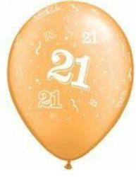 Qualatex Balloons 21 Around Gold 28 cm
