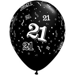 Qualatex Balloons 21 Around Onyx Black 28cm