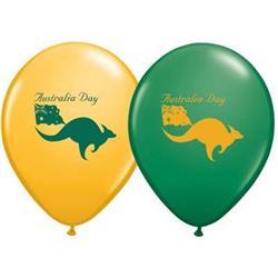 Australia day with kangaroo and flag.