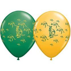 Kangaroos Around Goldenrod & Emerald