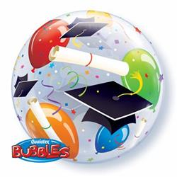 Grad Hats & Balloons Bubble