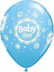 Qualatex Balloons baby Boy Dots 28 cm