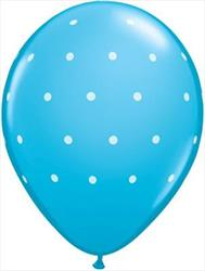 Qualatex Balloons Small Polka Dots Robyns Egg Blue 28cm