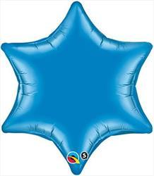 6 Point Star Blue 55.8cm
