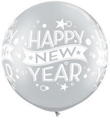 """New Year Confetti Dots 30"""" Silver  ."""