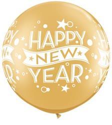 "New Year Confetti Dots 30"" Gold"