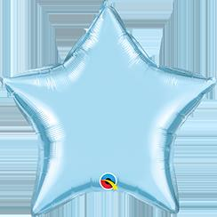 "Star Foil Pearl Light Blue 36""  Unpackaged"