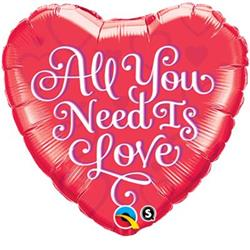 Qualatex Balloons All You Need Is Love 45cm