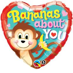 Qualatex Balloons Bananas About You 45cm