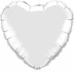Qualatex Balloons 23cm Heart Silver