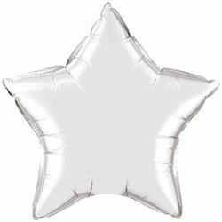 "Qualatex Balloons Star Foil Silver 23cm or 9""  Flat"