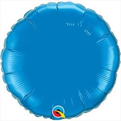 Circle Foil Saphire Blue 45cm   Unpackaged