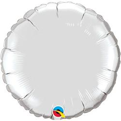 Circle Foil Silver 45cm   Unpackaged