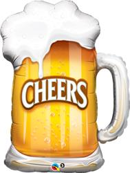 Cheers Beer Mug 89cm Foil Shape