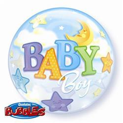 Baby Boy Moon & Stars Bubble 55cm
