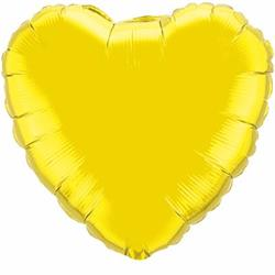 "Heart Foil Citrine Yellow 36"" Unpackaged"