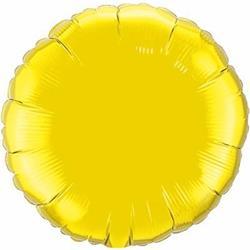 Qualatex Balloons 23cm Circle Citrine Yellow