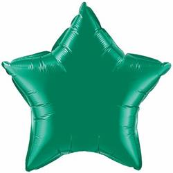 Qualatex Balloons 23cm Star Emerald Green