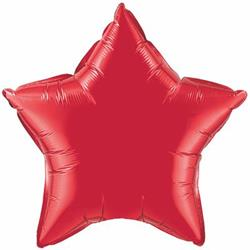 Qualatex Balloons 23cm Star Ruby Red