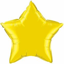 Qualatex Balloons 23cm Star Citrine Yellow