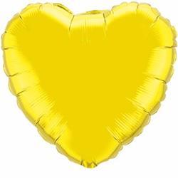 Qualatex Balloons 23cm Heart Citrine Yellow