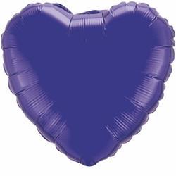 Qualatex Balloons 23cm Heart Foil Purple