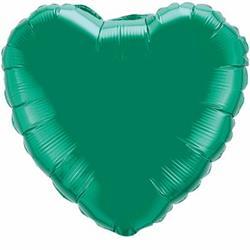 Qualatex Balloons 23cm Heart Foil Emerald Green