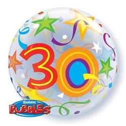 30  Brilliant Stars Bubble 55cm