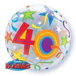 40 Brilliant Stars Bubble 55cm
