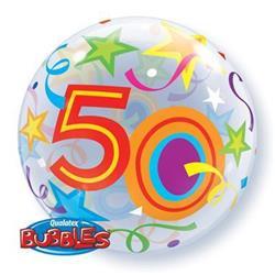 50 Brilliant Stars Bubble 55cm