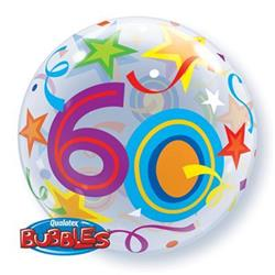 60 Brilliant Stars Bubble 55cm