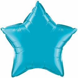 Star Foil Turquoise 10cm