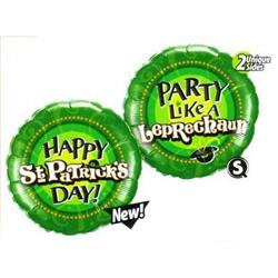 Qualatex Balloons St Patricks Leprechaun 45cm unpackaged