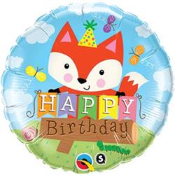 Qualatex Balloons Birthday Party Fox 45cm NEW