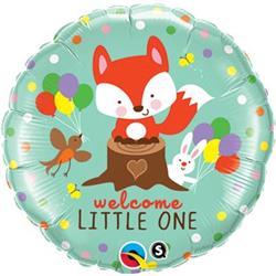Qualatex Balloons Welcome Little Fox & Friends 45cm