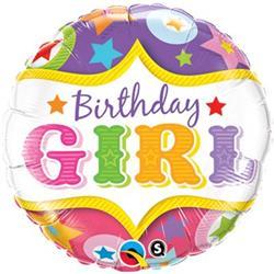 Qualatex Balloons Birthday Girl Circus Stars 45cm