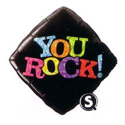 Qualatex Balloons You Rock Black 45cm