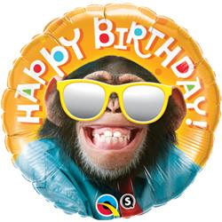 Qualatex Balloons Birthday Smilin Chimp 45cm NEW