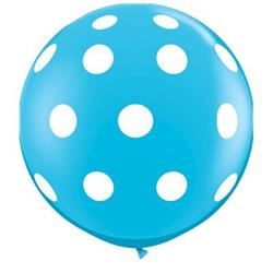 Qualatex Balloons Big Polka Dots Robins Egg Blue 90cm - 36""
