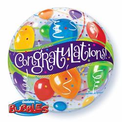 Congratulations Balloons Bubble 55cm