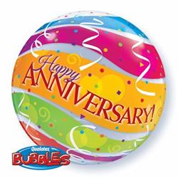 Anniversary Colourful Bands Bubble 55cm