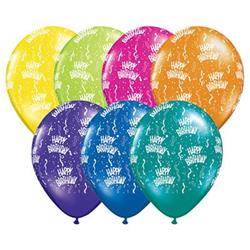 Qualatex Balloons Birthday Around Fantasy Asst 40cm