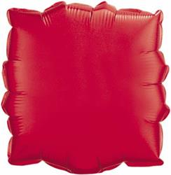 Qualatex Balloons 23cm Square Ruby Red