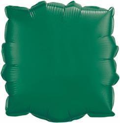 Qualatex Balloons 23cm Square Emerald Green