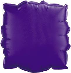 Qualatex Balloons 23cm Square Quartz purple