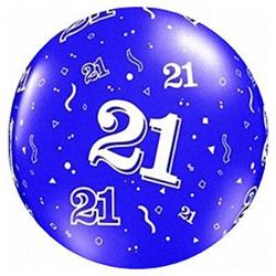 "Qualatex Balloons 21 Around Sapphire Blue 90cm - 36"""