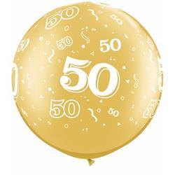 Qualatex Balloons 50 Around 76cm Gold