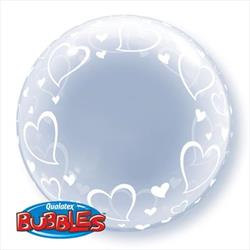 Deco Bubble Stylish Hearts 60cm